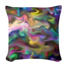 fascination fluid, multicolor Woven Throw Pillow