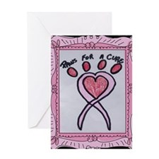 Paws For A Cure Pink Fr. Greeting Card