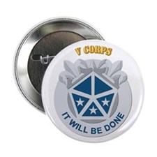 "DUI - V Corps With Text 2.25"" Button (10 pack)"