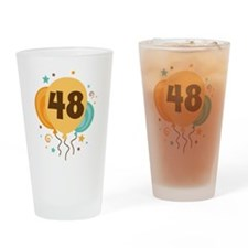 48th Birthday Party Drinking Glass