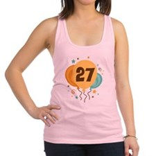 27th Birthday Party Racerback Tank Top