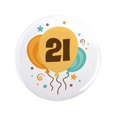 "21st Birthday Party 3.5"" Button"