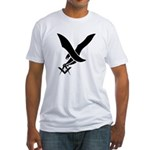 Masonic guardian eagle Fitted T-Shirt