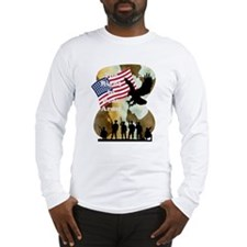 camouflage troop support Long Sleeve T-Shirt