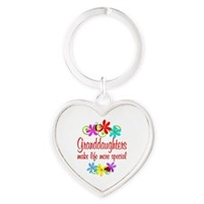 Special Granddaughter Heart Keychain