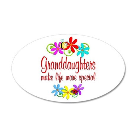 Special Granddaughter 35x21 Oval Wall Decal