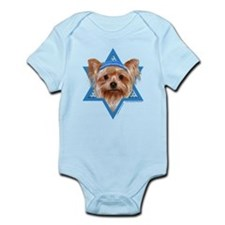 Hanukkah Star of David - Yorkie Infant Bodysuit