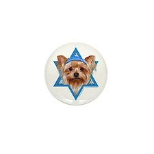 Hanukkah Star of David - Yorkie Mini Button (10 pa
