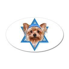 Hanukkah Star of David - Yorkie 35x21 Oval Wall De