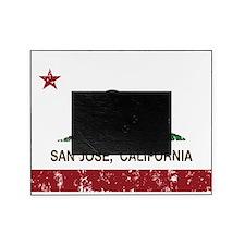 california flag san jose distressed Picture Frame