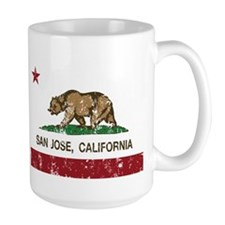 california flag san jose distressed Mugs