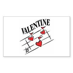 Valentine Love Notes Rectangle Sticker