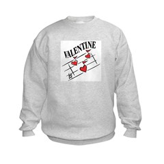 Valentine Love Notes Kids Sweatshirt