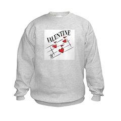 Valentine Love Notes Kids Sweatshirt