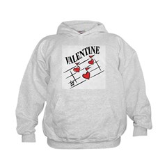 Valentine Love Notes Kids Hoodie