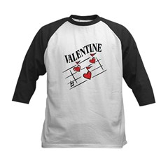 Valentine Love Notes Kids Baseball Jersey