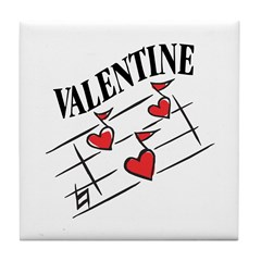 Valentine Love Notes Tile Coaster