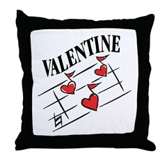 Valentine Love Notes Throw Pillow