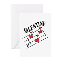 Valentine Love Notes Greeting Cards (Pk of 10)