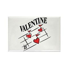 Valentine Love Notes Rectangle Magnet