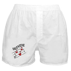 Valentine Love Notes Boxer Shorts