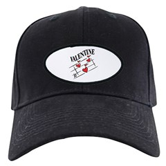 Valentine Love Notes Black Cap