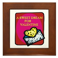 Valentine Sweet Dream Framed Tile