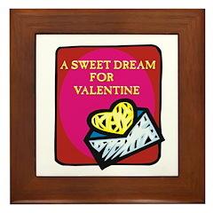 Valentine Sweet Dream Framed Tile