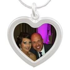 Janee and Luke Robertson Silver Heart Necklace