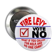 "Fire Levy Vote No 2.25"" Button (100 pack)"