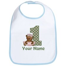 1st Birthday Princess Bear Bib