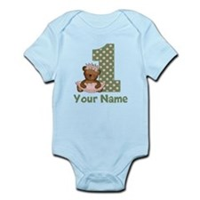 1st Birthday Princess Bear Body Suit