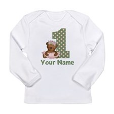 1st Birthday Princess Bear Long Sleeve T-Shirt