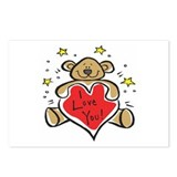 I Love You Teddy Bear Postcards (Package of 8)