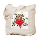 I Love You Teddy Bear Tote Bag