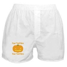 CUSTOM TEXT Jack O Lantern Boxer Shorts