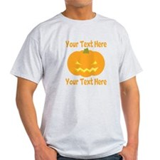 CUSTOM TEXT Jack O Lantern T-Shirt