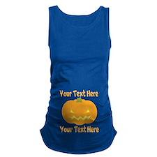Jack-o-Lantern Pumpkin Belly Maternity Tank Top