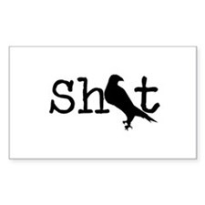 Shit Bird Logo Black Decal