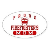 Proud Firefighter's Mom Oval Decal