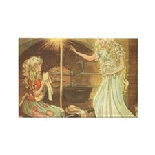 Vintage Cinderella Fairy Tale Rectangle Magnet