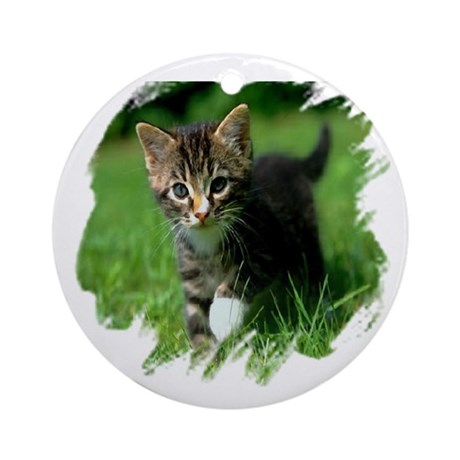 Baby Kitten Ornament (Round)