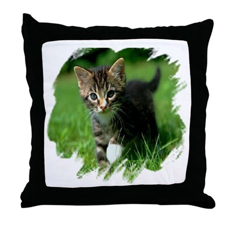 Baby Kitten Throw Pillow