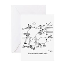 Goliath Goats Greeting Card