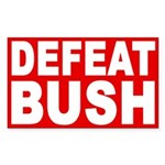 Defeat Bush (Red Bumper Sticker)