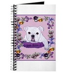 Bulldog puppy with flowers Journal