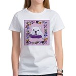 Bulldog puppy with flowers Women's T-Shirt
