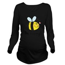 Bee Happy Long Sleeve Maternity T-Shirt