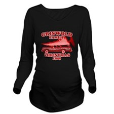 Griswold-Red-01 Long Sleeve Maternity T-Shirt