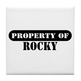 Property of Rocky Tile Coaster